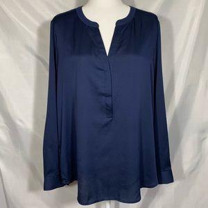 Ann Taylor Royal Blue v-neck blouse